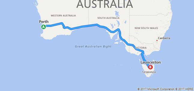 Perth to Launceston